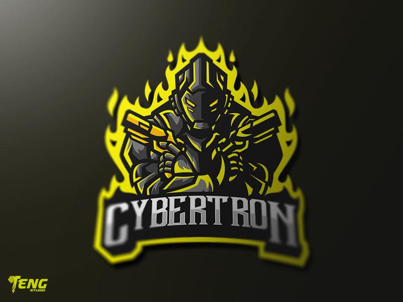 cybertron logo esport mascot team sport game by teng