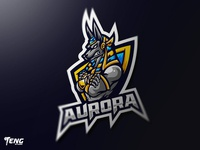 AURORA Logo Esport Mascot Team Sport Game