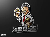 xBOSS Logo Esport Mascot Team Sport Game