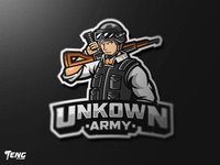 UNKNOWN ARMY Esport Mascot Character Vector