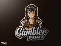 Gambler Fort Esport Mascot Character Vector