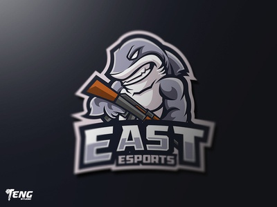 EAST Esport Mascot Character Vector