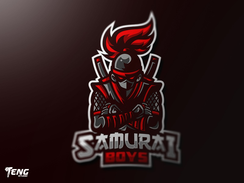 SAMURAI NINJA BOYS MASCOT LOGO CHARACTER VECTOR esports dragon sports club twitch clan icon gaming team overwatch fortnite brand game branding design sport esport character logo mascot