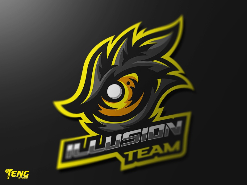 ILLUSION TEAM EYE MASCOT LOGO CHARACTER VECTOR clan icon gaming team overwatch fortnite brand game branding design sport esport character logo mascot