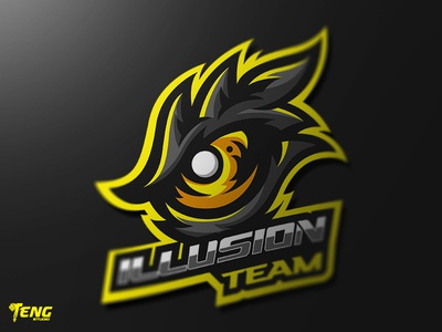ILLUSION TEAM EYE MASCOT LOGO CHARACTER VECTOR
