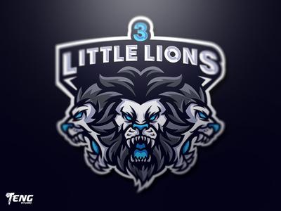 3 LITTLE LIONS MASCOT LOGO CHARACTER VECTOR