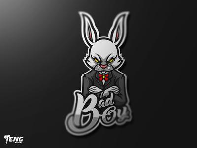 Badboy Rabbit MASCOT LOGO CHARACTER VECTOR