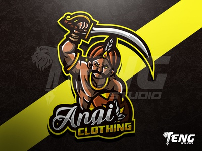Angie Clothing LOGO ESPORT SPORT CHARACTER VECTOR