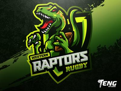 Western Raptors Rugby LOGO MASCOT VECTOR ESPORT/SPORT