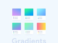 Clean web gradients options + Free PSD