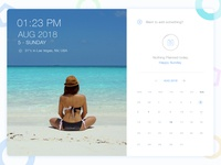 Calendar with Activity view UI design