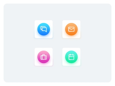 Modern styled Icons. Free icons with psd available.