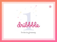 Yeah! Dribbble invite to giveaway.