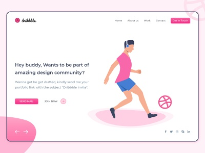 Yeah! 1 more Dribbble invite to giveaway. colorful illustration web design hero banner free psd dribbble logo dribbble invitation basketball dribbble best shot dribbble invite dribbble