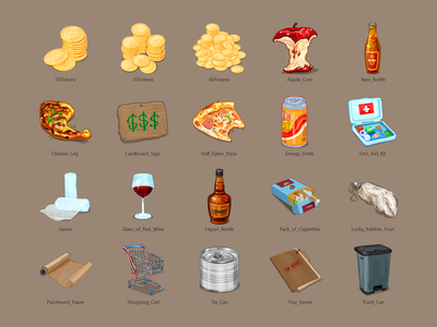 Vector Icons for Game