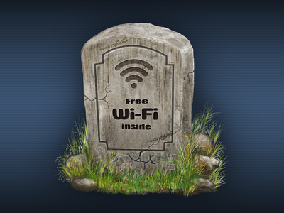 Fee Wi-fi Gravestone