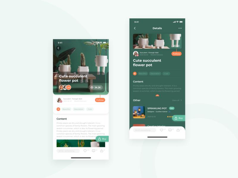Succulents App Design
