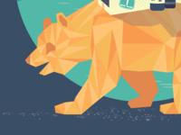 T+C Poster Detail low poly bear
