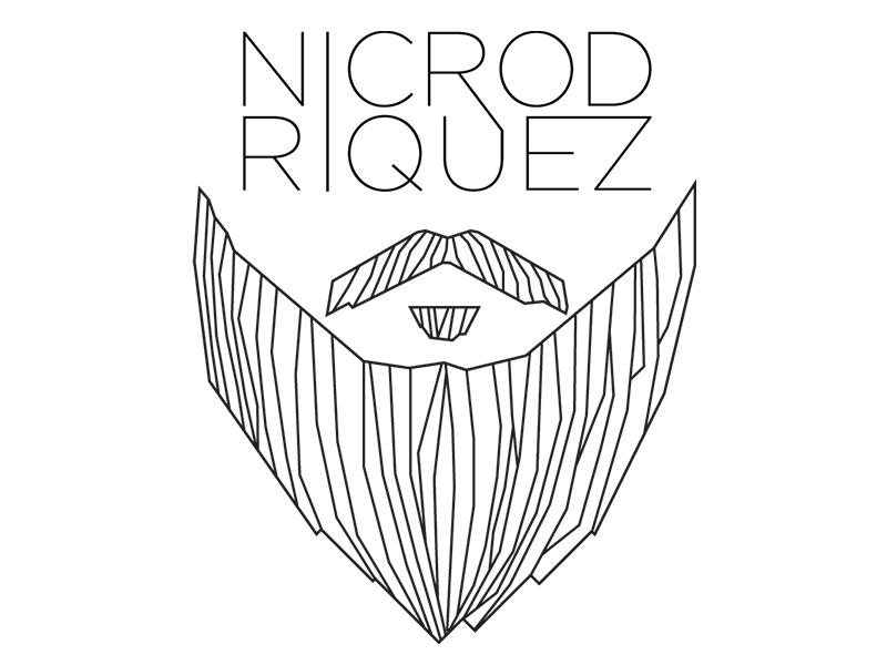 Bearded Man id logo beard lines