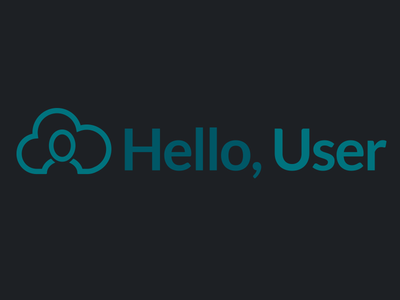 User concept ui id branding logo
