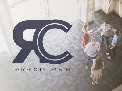 Royse City Church  concept id branding logo