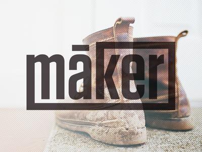 maker concept id branding logo