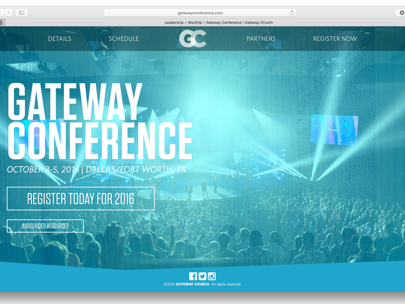 Gateway Conference web design ux ui