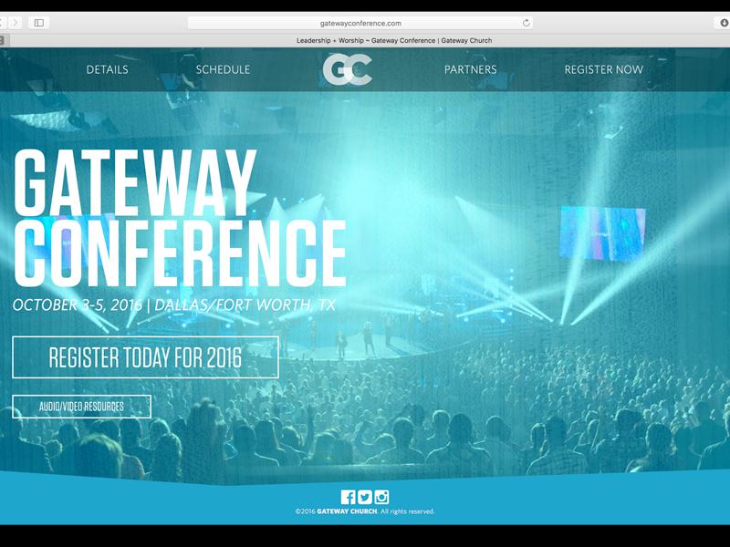 Gateway Conference web design ux ui