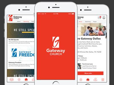 Gateway Church App Concept ios mobile ux design ui enhancements