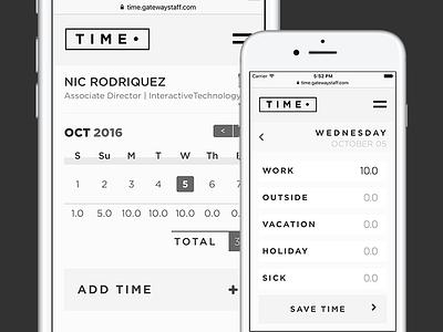 Time Dot app design ux ui