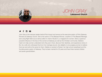 Gateway Student Conference Site retro layout ui conference site