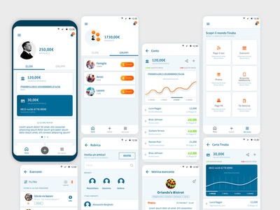 More than a bank 1 share payment money minimal stylish redesign ux ui interface app mobile bank