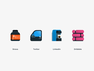 Barci's Icons graphic social logo vector iconset icons design
