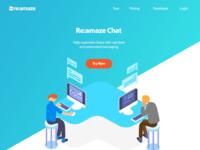 Re:amaze Live Chat Landing Page