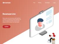 Re:amaze Live Landing Page