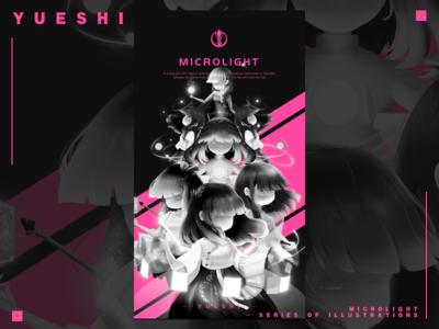 Microlight - series of illustrations