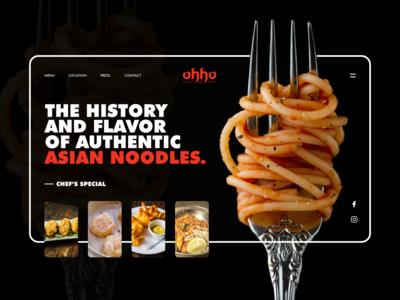 Web design concept for #ohhonoodlesmarket