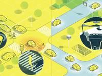 Autonomous cars print