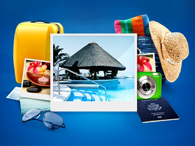 Booking Iphone App Welcome Screen Collage app iphone vacation booking welcome-screen collage hotel polaroid travel summer passport pool