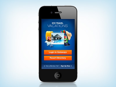 Booking Iphone App Welcome Screen iphone app welcome vacation login