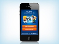 Booking Iphone App Welcome Screen
