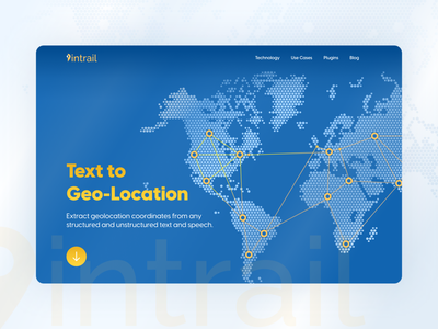 Text to Geo-Location landing page figma ui
