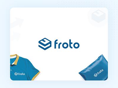 Logo for Froto illustrator branding delivery application logo
