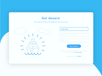 Sign Up Form 001 dailyui