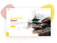 Experience Nepal Landing Page