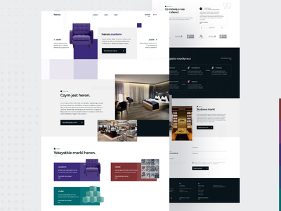 Heron Holding - homepage furniture scandinavian minimal flat nordic ux web design website ui