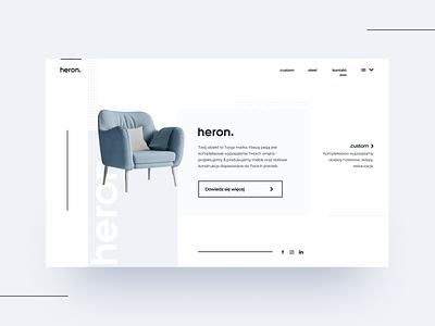 Heron Holding - simple scandinavian landingpage web furniture website ui ux nordic scandinavian clean flat simple