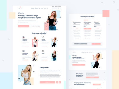Website for fitness industry - Patrycja Rublewska services products shop ecommerce diet pricing dietician fitness clean ux design website web ui