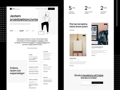 Clean Personal Website - Beata Mosór-Szyszka typogaphy numbers resources brand personal black and white branding clean design website web ui