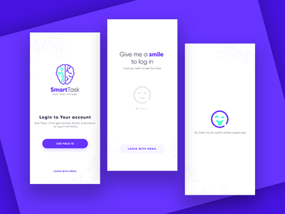 Sign up with Face ID - Daily UI #001